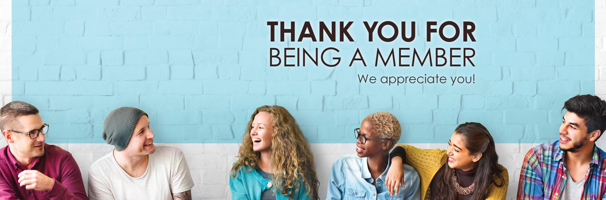 Thank you for being a member - banner image